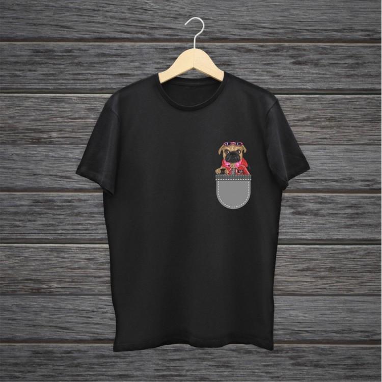 Süpermen Köpek Baskılı Tişört