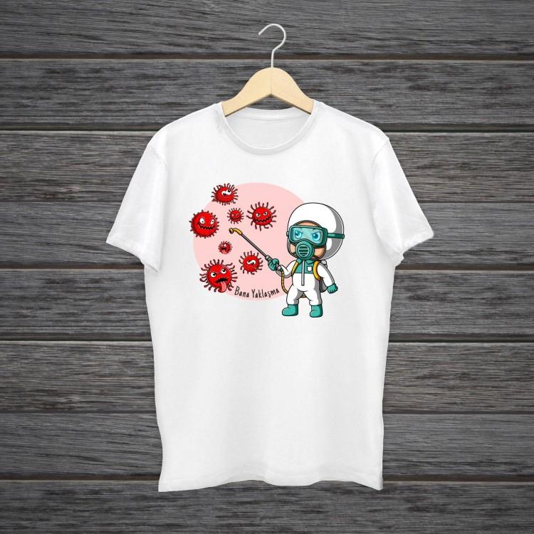 Korona ile Mücadele T-Shirt Tişörtü